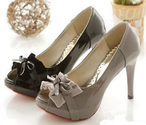 Ladies-Sexy-Peep-Toe-Hidden-Platform-Party-Shoes-Heels
