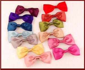U-Pick-1-Pair-Hair-Bows-Clips-Handmade-Ribbon-Boutique