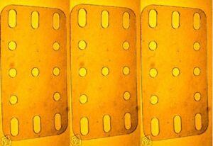 Three-Meccano-transparent-plastic-Plates-Part-No-193
