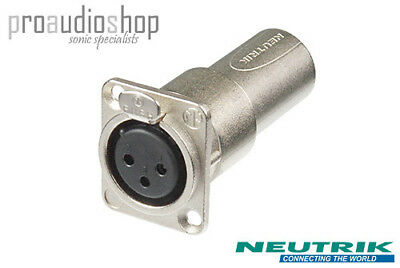 Neutrik NA3FDM XLR Female Panel Mount to XLR Male Rack feedthrough