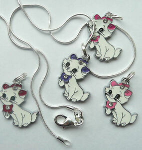 Disney-Aristocat-Marie-Cute-Childs-Necklace-16in-silver-snake-chain