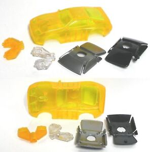 TYCO Nissan 300ZX HO Slot Car Body TEST SHOT Tangerine!