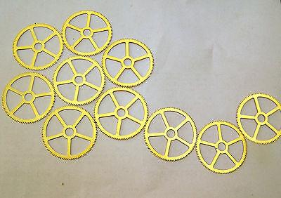 """Steampunk Watch clock gears cogs wheels parts - 10 LARGE Brass gears 35mm 1.5"""""""
