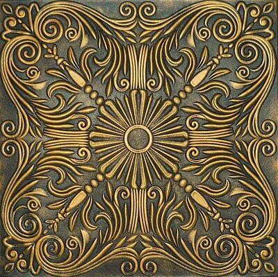 Decorative Texture Ceiling Tiles Glue UP - R39 Black Gold On SALE