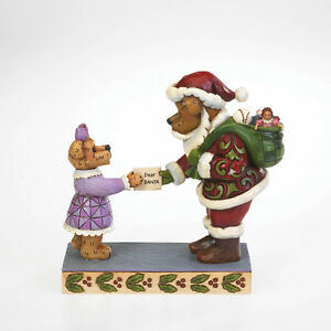 Boyds Bears & Jim Shore Christmas ~ Bear Handing Santa Letter Figurine 4022306