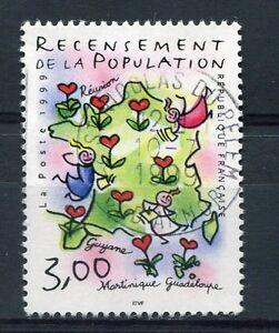 FRANCE-1999-timbre-3223-RECENSEMENT-de-la-POPULATION-oblitere