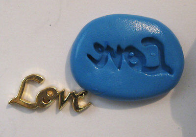Love word Flexible Silicone Push Mold Polymer clay Resin fondant mould plaster