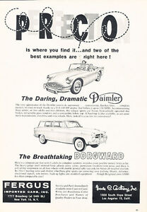 1960-Daimler-SP250-and-Borgward-Classic-Vintage-Advertisement-Ad-H04