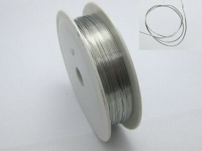 30Metres Silver Copper Beading Jewelry Wire Craft 0.4mm