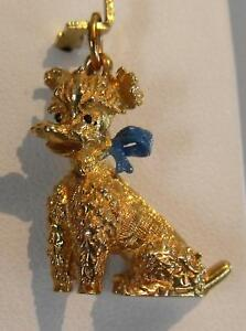 14K-Gold-Heavy-3D-French-Poodle-Dog-Charm-Pendant-7-3-gr