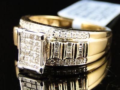 10K Ladies Xl Princess Bridal Engagement Diamond Ring