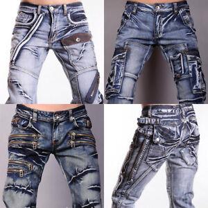 3mu-Designer-Mens-Jeans-Pants-Denim-Stylish-Over-50-Series-W28-30-32-34-36-38