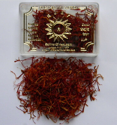 RUBY BRAND PURE FINEST HIGH QUALITY SPANISH SAFFRON SEALED 1 GRAM