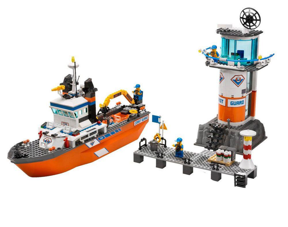 Lego City barco de rescate rescate rescate y torre de la guardia costera (7739)  hasta 60% de descuento