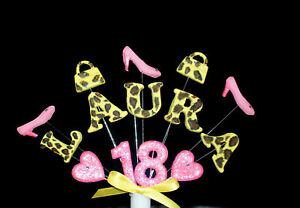 Personalised-Handbag-and-Shoe-Leopard-print-cake-topper