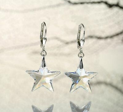 Ohrringe mit Swarovski Stern Moonlight