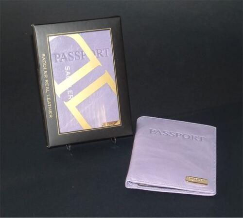 Saddler Leather Goat Skin Glazed Passport Travel Document Cover Gift Boxed