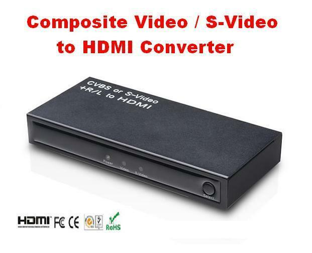 3 RCA S-Video Composite AV to HDMI Converter Adapter