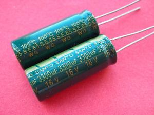 10X-SANYO-16V-3300UF-Electrolytic-Capacitor-10X25mm