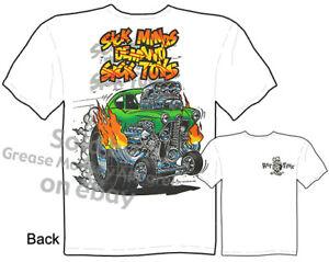 Hot-Rod-Gasser-Rat-Fink-T-shirt-Ed-Roth-Shirt-Sick-Minds-Tee-Sz-M-L-XL-2XL-3XL