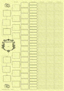 8-Generation-Ancestral-Pedigree-Family-Tree-Chart-On-Parchment-Paper