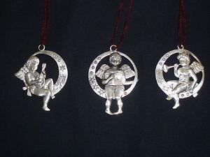 Cherub-Pewter-Ornaments-Set-of-3-NEW