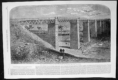 Antiques Amiable 1862 Iln Antique Print View Of Moorabool Viaduct Decorative Arts Melbourne To Ballarat Railway