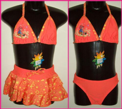 GIRLS 3 piece BIKINI  Sz 4 5 6 7 SWIMWEAR Bathers GORGEOUS TOGS w// Skirt NEW