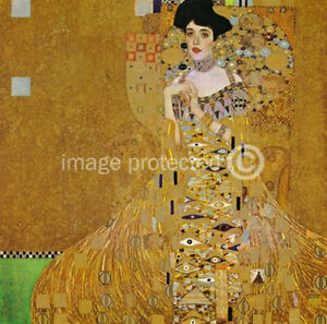 gustav klimt art poster portrait of adele bloch bauer i. Black Bedroom Furniture Sets. Home Design Ideas