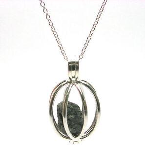 1+ Carat ROUGH DIAMONDS JEWELRY SILVER Necklace Cage
