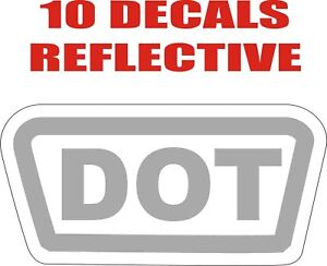 GRY-Reflective-DOT-D-O-T-Approved-Helmet-Decal-Sticker