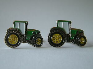BRAND-NEW-SET-OF-FARMERS-GREEN-TRACTOR-CUFFLINKS-FOR-MENS-GIFT-PRESENT