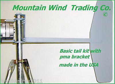 basic mounting bracket and tail kit 4 wind turbine generator 4 delco alternator