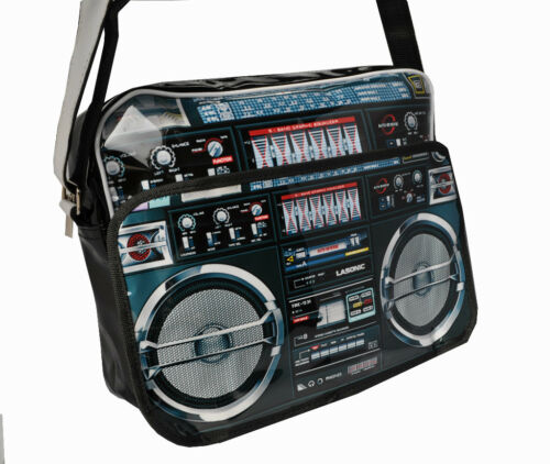 Ghetto Blaster Radio Boom Box Postman Laptop Carry Bag (PB102)