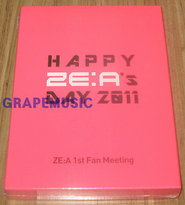 ZE:A HAPPY ZE:A'S DAY 2011 1st Fan Meeting DVD 2 DISC + 52 PAGE BOOKLE SEALED