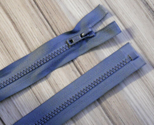 """CHOOSE YOUR PREFERED COLOUR! 24/""""// 61 CM CHUNKY PLASTIC OPEN END ZIP"""