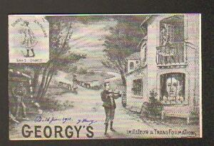 ARTISTE / M. GEORGY'S , IMITATEUR TRANSFORMISTE au CONSORTIUM du CINEMA en 1912