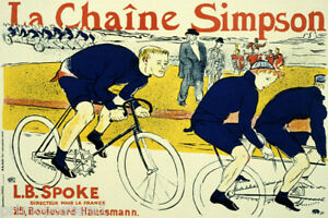 BIKE-BICYCLE-LA-CHAINE-SIMPSON-CYCLING-RACE-FRENCH-VINTAGE-POSTER-REPRO