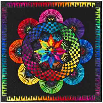 Circle Of Life Paper Pieced Quilt Pattern Be Colourful Jacqueline de Jonge DIY