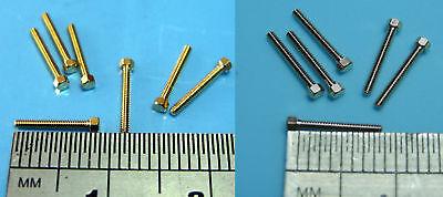 M0.6 M0.8 M1.0 M1.2 M1.4 M1.6 Miniature Brass Hex Bolt Screw x10 Pocher Upgrade