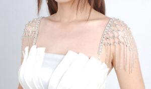 staccabile con diamanti Tracolla bretelle Diamante Diamonte New Prom con Tracolla Party UBdqzxqC