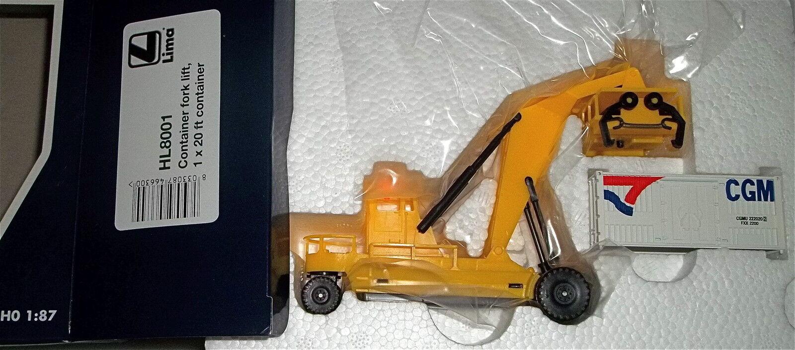 Chariot Élévateur pour CONTAINER FORK LIFT Hornby Lima hl8001 1 87 Neuf dans sa boîte b2 μ