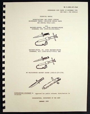 Bayonet M6, M7 and M9 multipurpose support manual