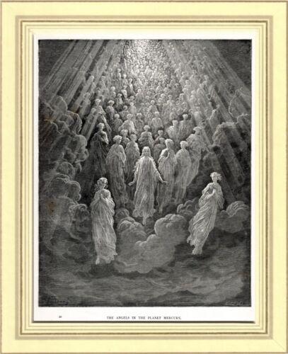PARADISO:GLI ANGELI DEL PIANETA MERCURIO.Gustave Doré.Dante.Divina Commedia.1890