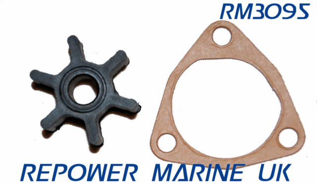 Impeller & Gasket Replaces Yanmar #:128176-4​2071, for 1GM10, 1GM
