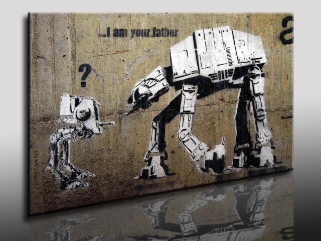 Kunstdruck Banksy Graffiti / Street Art  Bild auf Leinwand, Wandbild, k. Poster