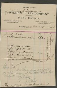 Merchants-Letter-William-Rae-Co-c1913-Brooklyn-N-Y