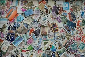 Kiloware-WORLDWIDE-Stamps-Large-Mixture-Lot-off-paper-6200-immense-variety