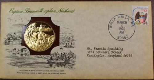 Franklin Mint 1 oz Silver Medal Captain Bonneville