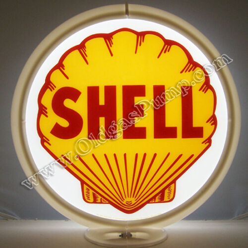 SHELL GASOLINE /& OIL GAS PUMP GLOBE SIGN FREE S/&H G-175